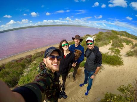 Noi al Pink Lake