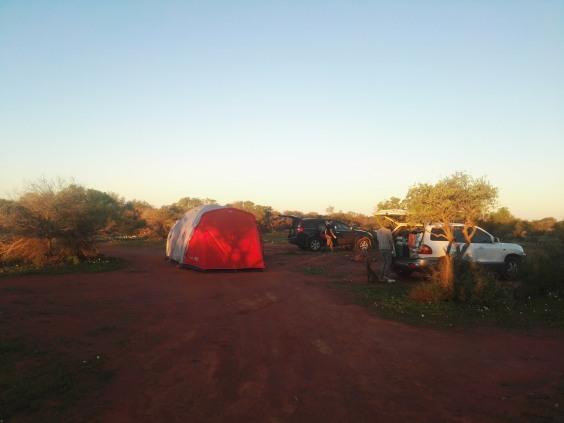 accampamento nel deserto