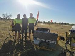 Famiglia che gira l'Australia in bici