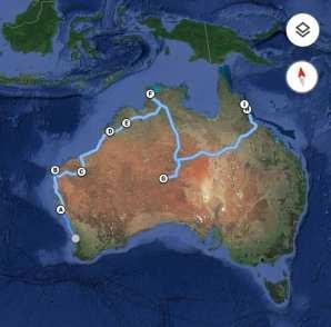 Mappa completa del nostro Roadtrip